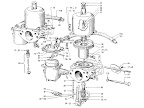 "Datsun Fairlady illustration no. 008-1 Carburetor 1600 (R16) ""SU"" [1]"