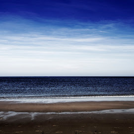 Winter Beach by David Stone - Landscapes Beaches ( water, sand, atlantic ocean, ipswich, sky with clouds, crane beach, ipswich bay )