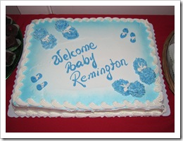 Welcome Baby Remington Cake!