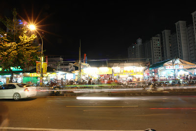 My first time at Rueifong Night Market, Kaohsiung City.