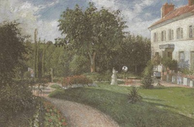 pissarro The garden of les Mathurins at Pontoise