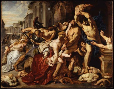 Massacre of the Innocents obra de peter paul rubens