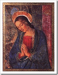 the virgin by pinturicchio