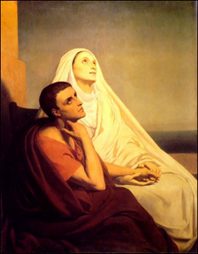 St. Augustine and His Mother by Ary Schreff