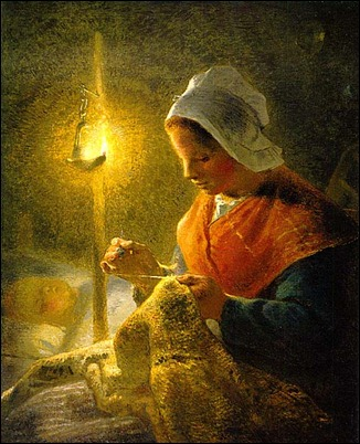 woman_sewing_by_lamplight_jean_francois_millet
