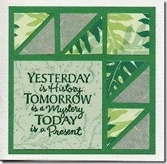 Yesterday is History mosaic