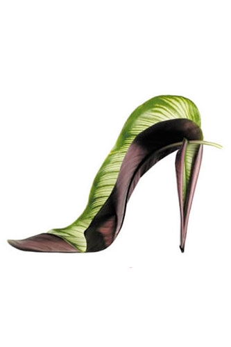shoe fleur flower 7 thumb 333xauto 31530 Shoes Made From Plants  And Flowers