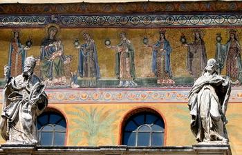 Fachada de Santa María in Trastevere