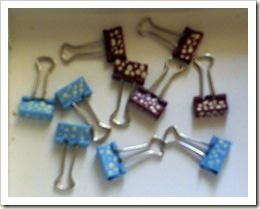 Painted Binder Clips