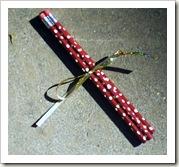 red polka dot pencils
