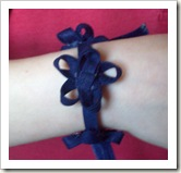 Bracelet made from bias tape.