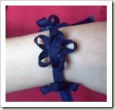 Bracelet made from bias tape.