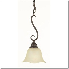 Morningside One Light Hanging Pendant in Grecian Bronze