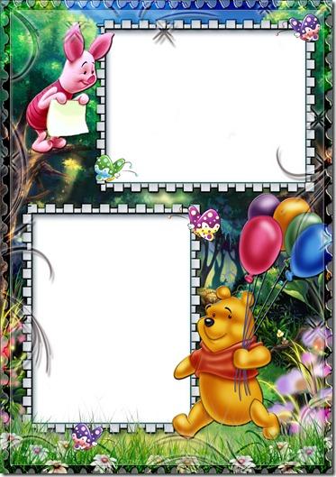 Marco para fotos infantiles de Winnie Pooh