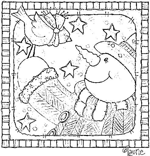 Navidad country laminas para pintar - Laminas de navidad para colorear ...