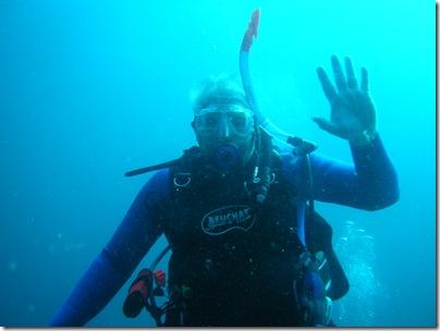 John under water