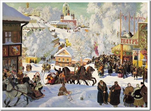 Кустодиев масленица 1917