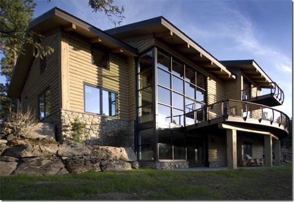 Beautiful mountain home made