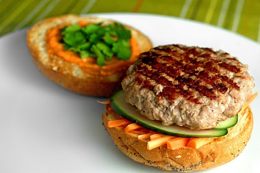 Vietnamese-style Pork Burgers at Paprika Red