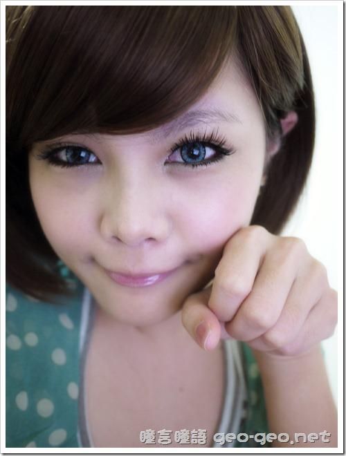 (放大片NEO太陽花灰)(假睫毛 sexy eye)(全頭假髮俏麗美少女桂綸鎂)-19