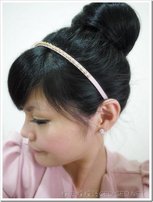 小文分享-[髮型]綁馬尾就能有一顆大又圓的包包頭♥日韓系小S立體包包頭丸子♥森林系浪漫梨花長捲馬尾
