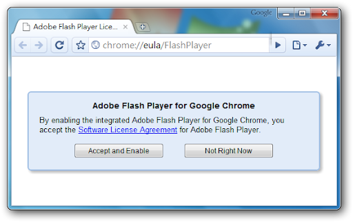 開啟Google Chrome內建的FlashPlayer