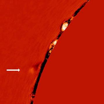 cometa no limbo solar
