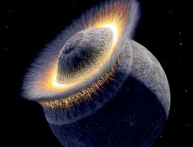 colisão entre dois planetas