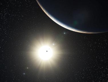 sistema planetário ao redor da estrela HD 10180