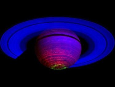 aurora de Saturno