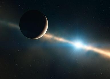 ilustração do exoplaneta HR 8799