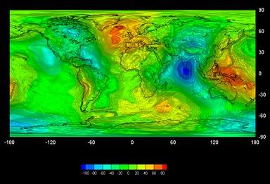 mapa gravitacional terrestre