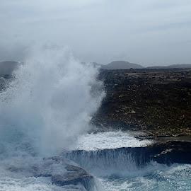 Boca Tabla Wave Crash by Donald Henninger - Landscapes Caves & Formations ( curacao, wave, seascape, cave, landscape, crash, shorebreak )