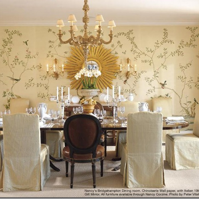 Elegant Wallpaper For Dining Room