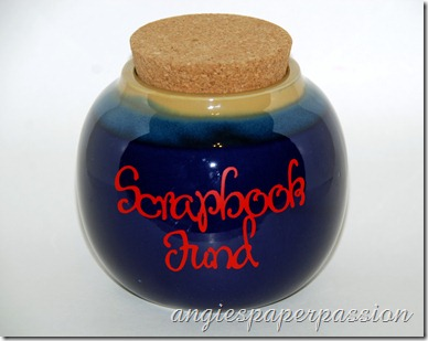 Scrapbook Fund Jar