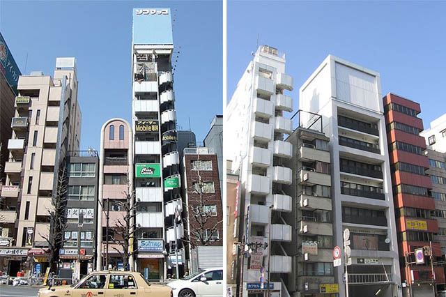 Dark Roasted Blend Narrow Buildings In Japan And Around The World