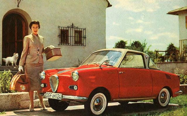 c10 Girls & Cars in European Vintage Ads
