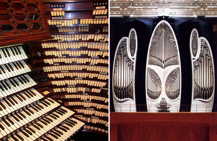 Dark roasted blend the worlds most magnificent pipe organs on the left the worlds largest pipe organ console in atlantic city photo via and on the right tokyo pipe organ built by marc garnier from france ccuart Image collections