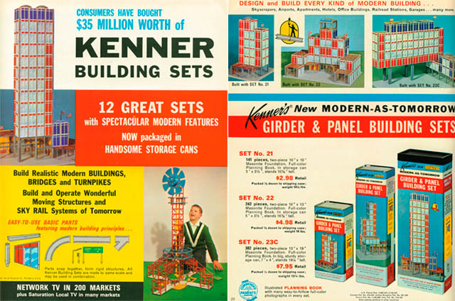 Building Toys From The 60s : Dark roasted blend vintage construction toys blasts from