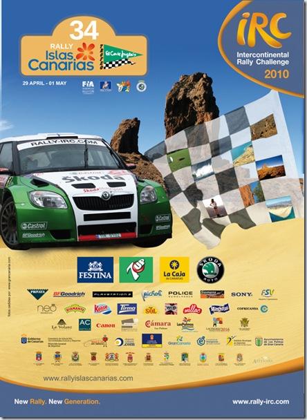 Cartel 34 Rallye Islas  Canarias Trofeo El Corte Ingles