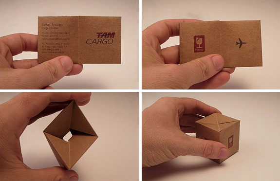 TAM Cargo: Transformable Business Card