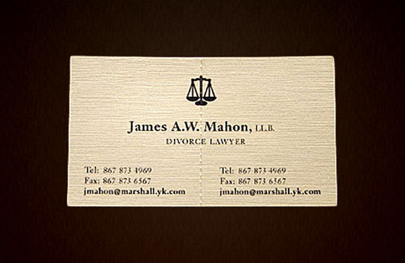 Divorce Lawyer: Hand-Tearable Business Card