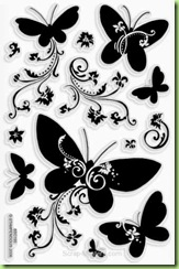 Stampendous Perfectly Clear Butterfly stamp set - $15