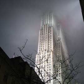 Empire State Building is on fire!!! No, it's fog. by Nirmal Murarka - News & Events Weather & Storms