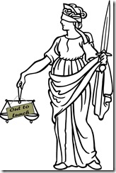 Lady Justice Out To Lunch
