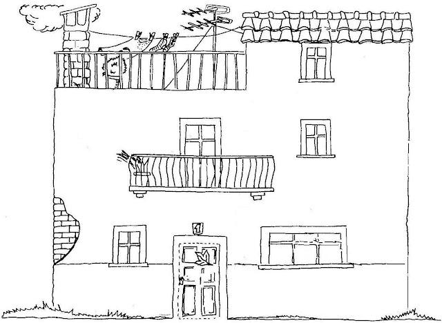 Tipos de casas laminas para pintar - Distintos tipos de casas ...