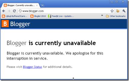 server blogspot down