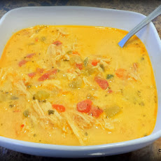 Creamy, Spicy Four Pepper Mexican Chicken Soup