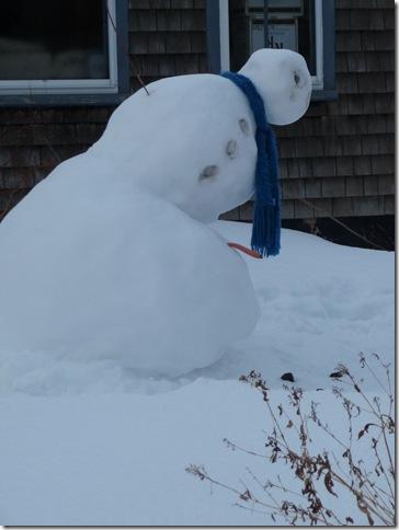 poor snowman!
