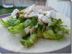 soft chicken taco